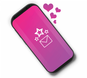 mobile phone with Icon- favourite your messages