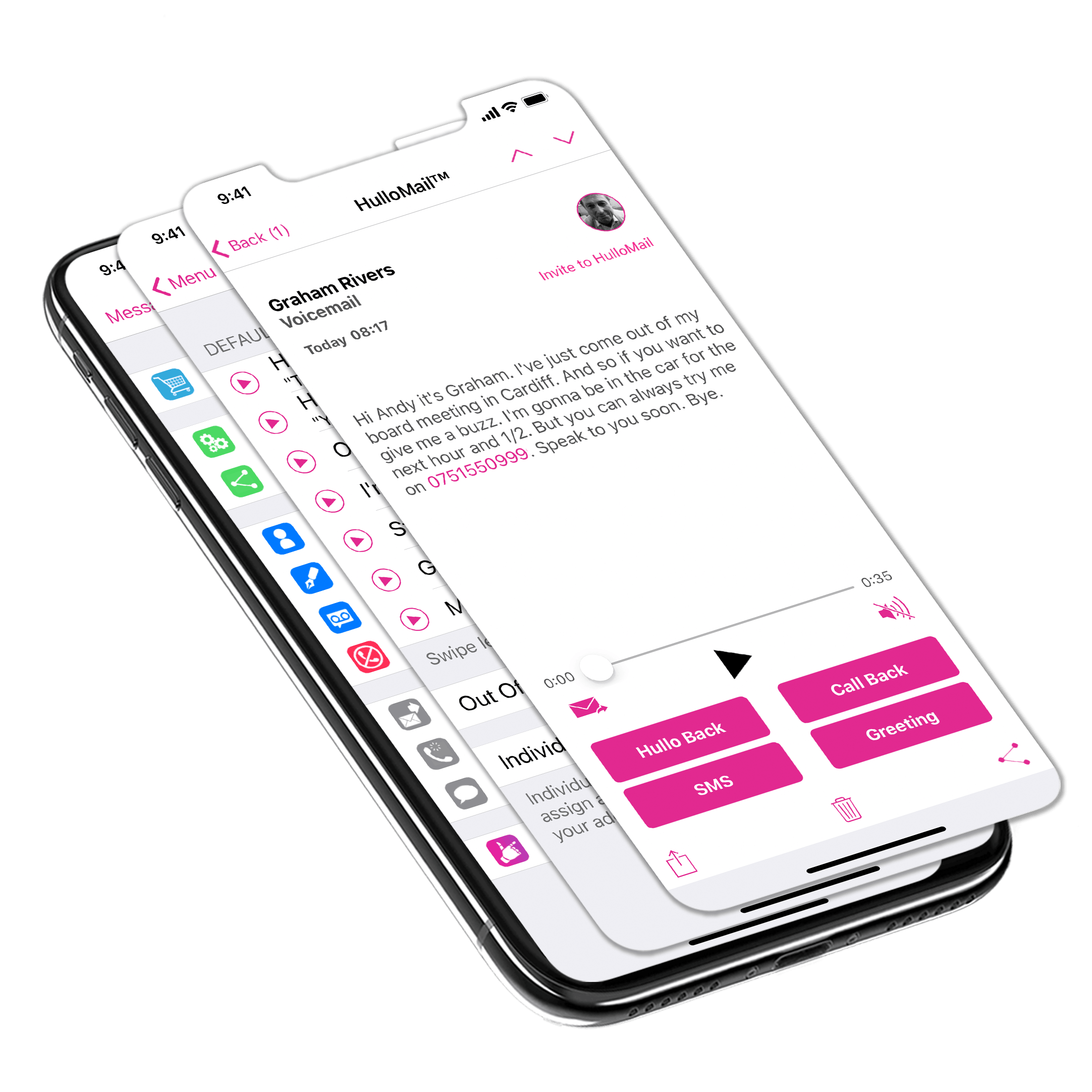 Hullomail Visual Voicemail App